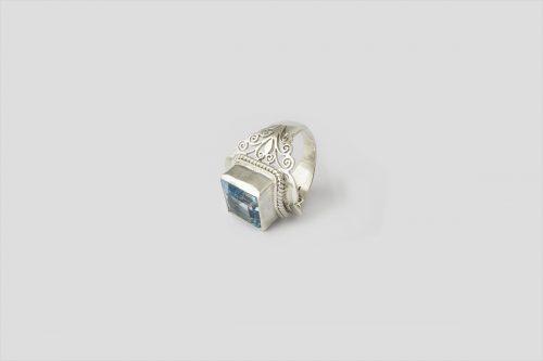 Blue Topaz Silver Ring (3)