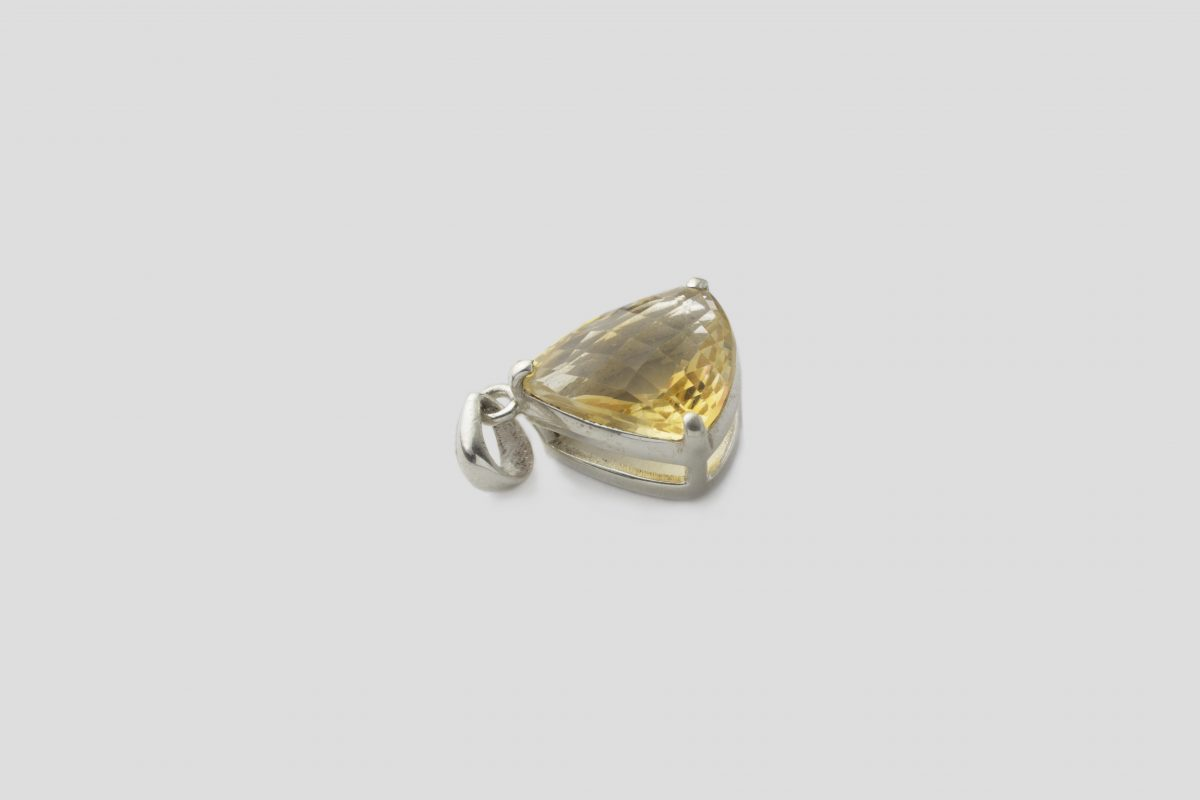 Citrine Silver Pendent (3)