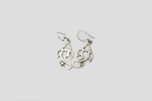 Moonstone Silver Earring