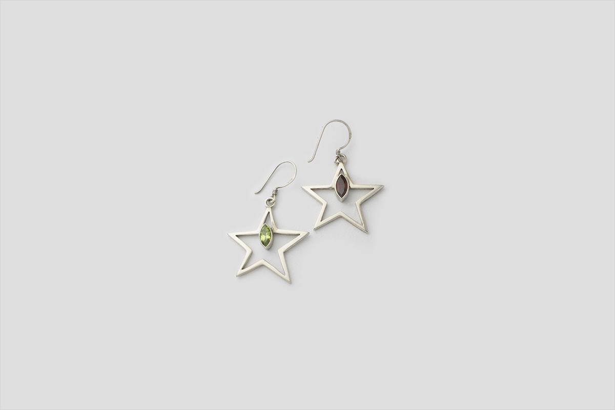 Star Silver Earring