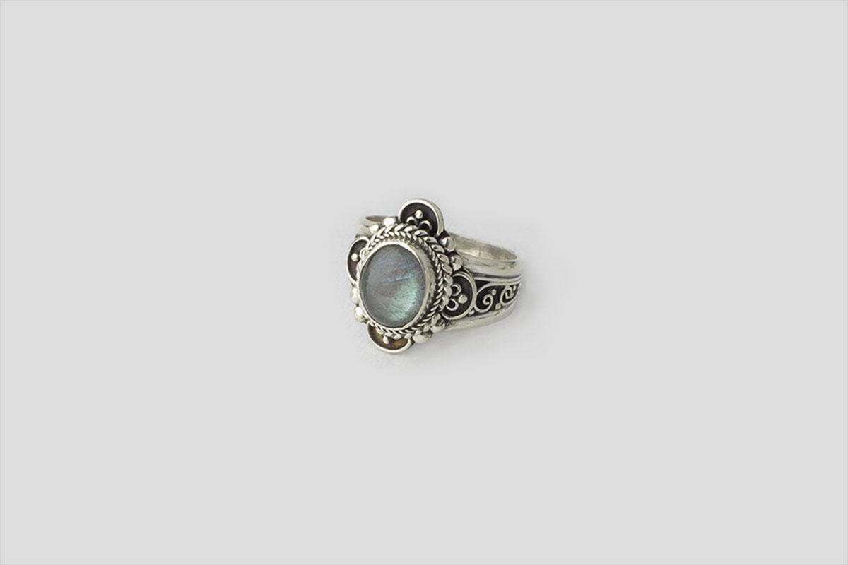 Tourmaline silver Ring 3