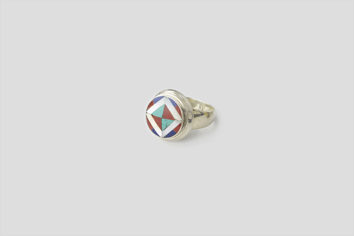 Turquoise coral cell Lapes Silver Ring (3)