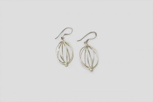 Unique Silver Earring (Wire Design)