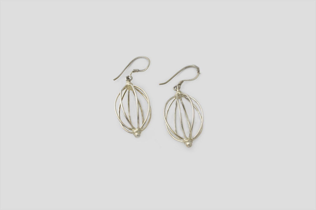 Unique Silver Earring (Wire Design)
