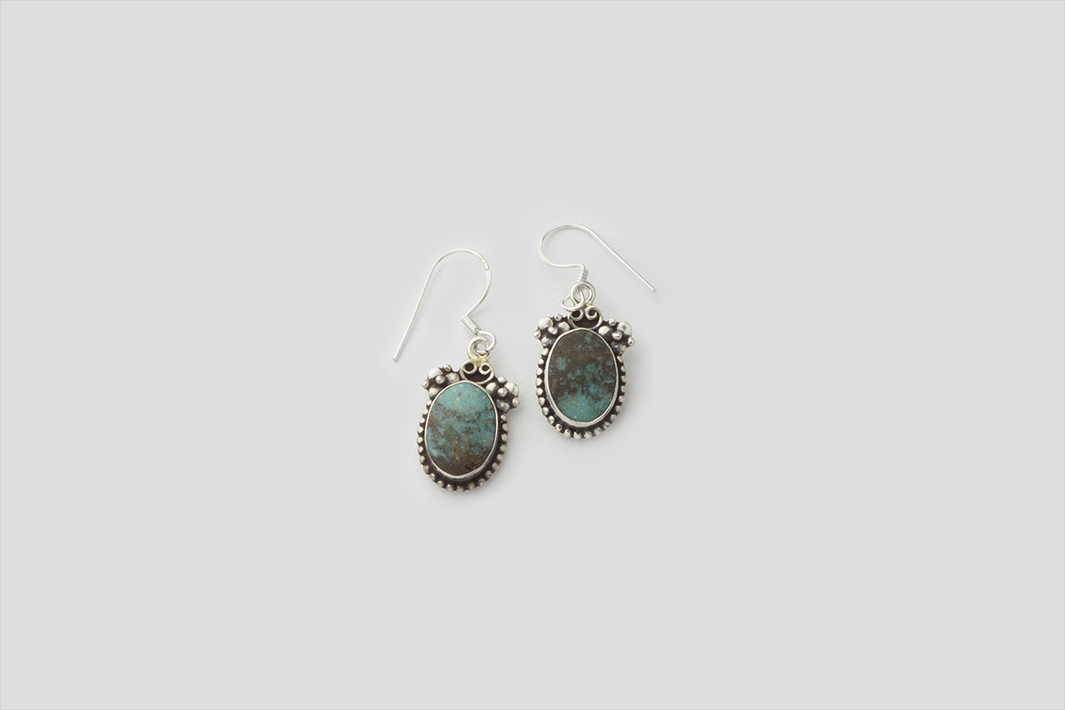 Turquoise Silver Earring(Wire Design)