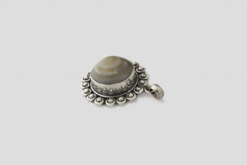 Agate Silver Pendent