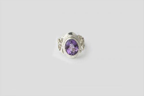 amethyst silver ring 2