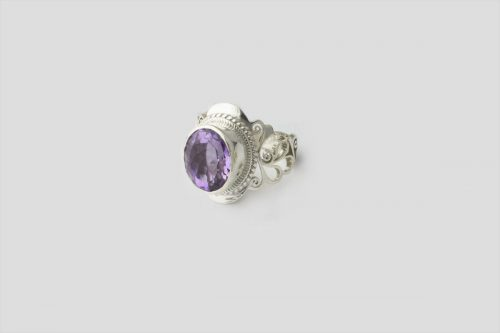 amethyst silver ring 3