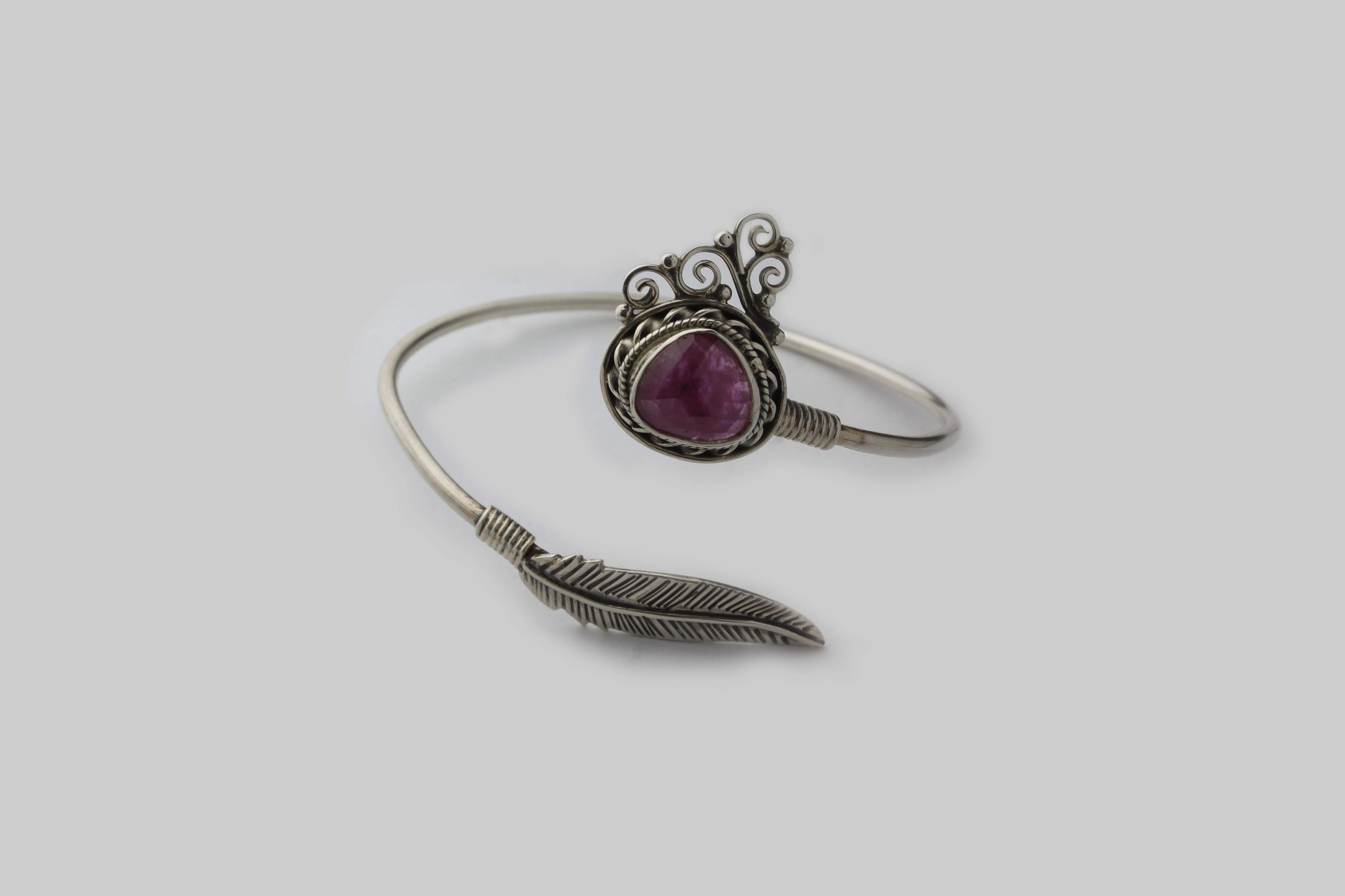 Multi Sapphire Silver Bracelet