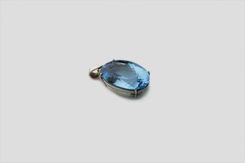 Blue Topaz Silver Pendent (2)