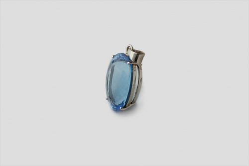 Blue Topaz Silver Pendent (3)