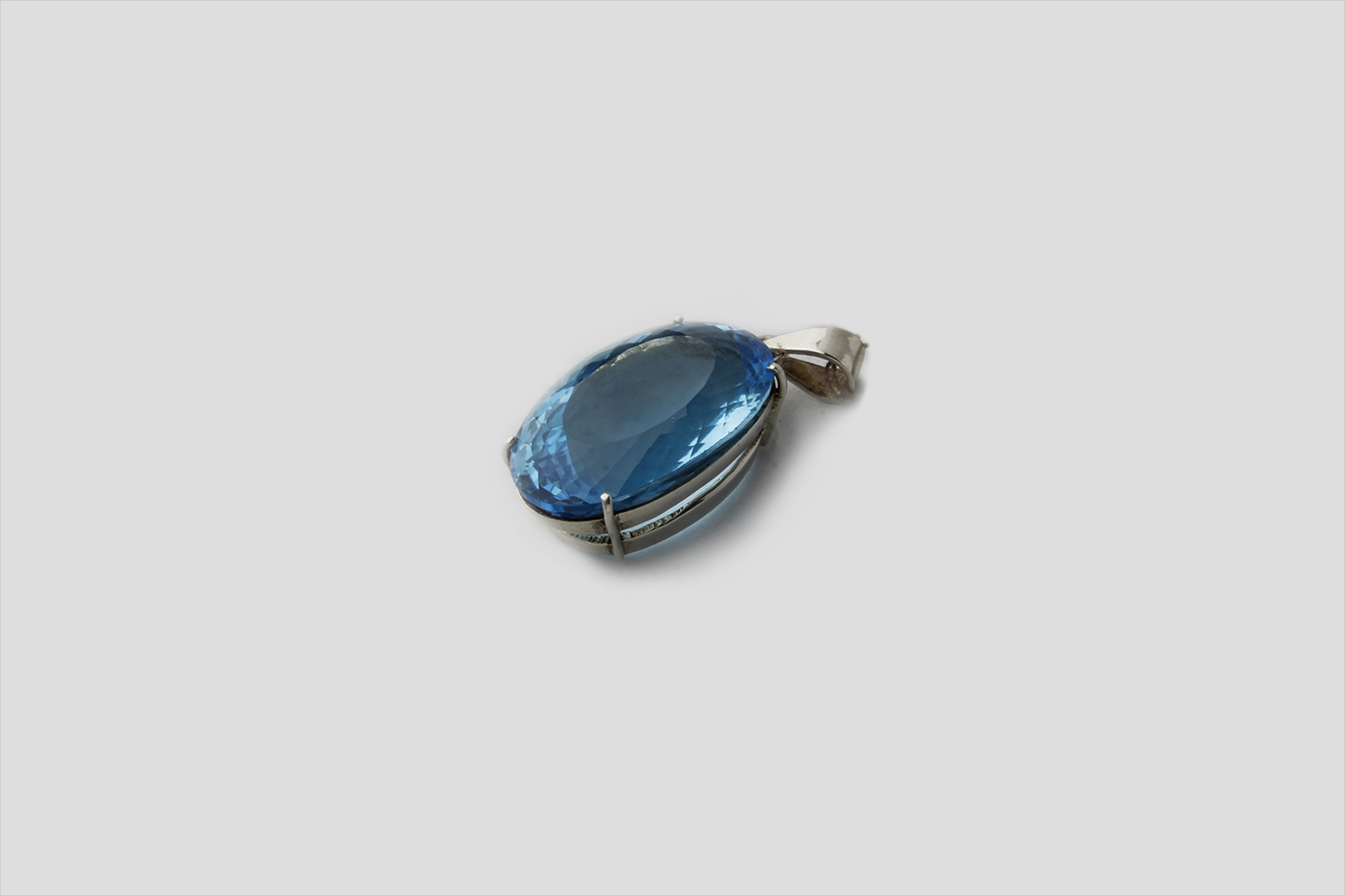 Blue Topaz Silver Pendent