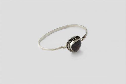 Garnet Silver Bracelet 2