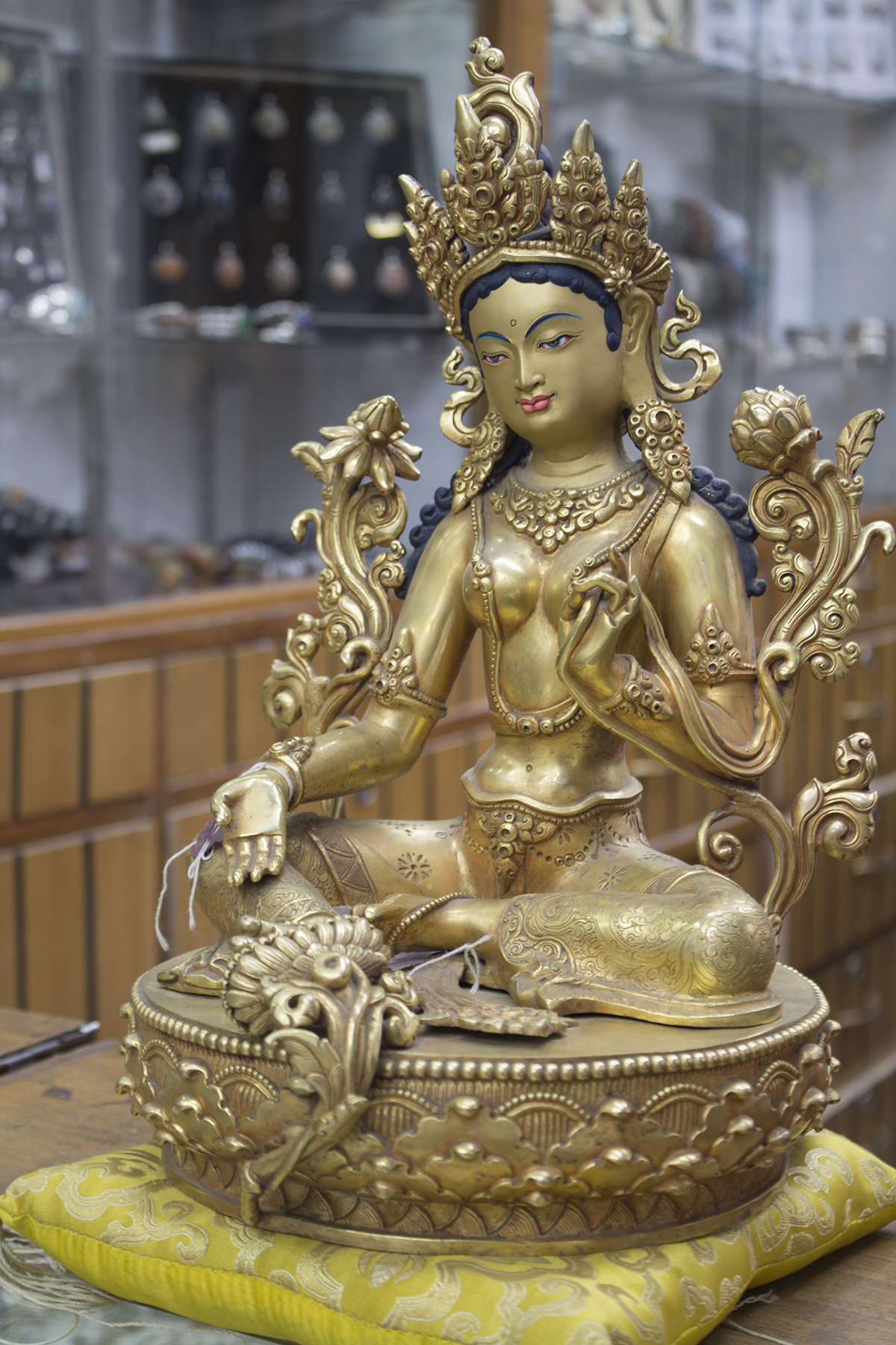 Green Tara 14inc statue (1)