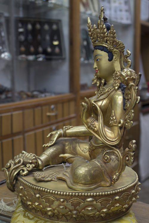 Green Tara 14inc statue (2)