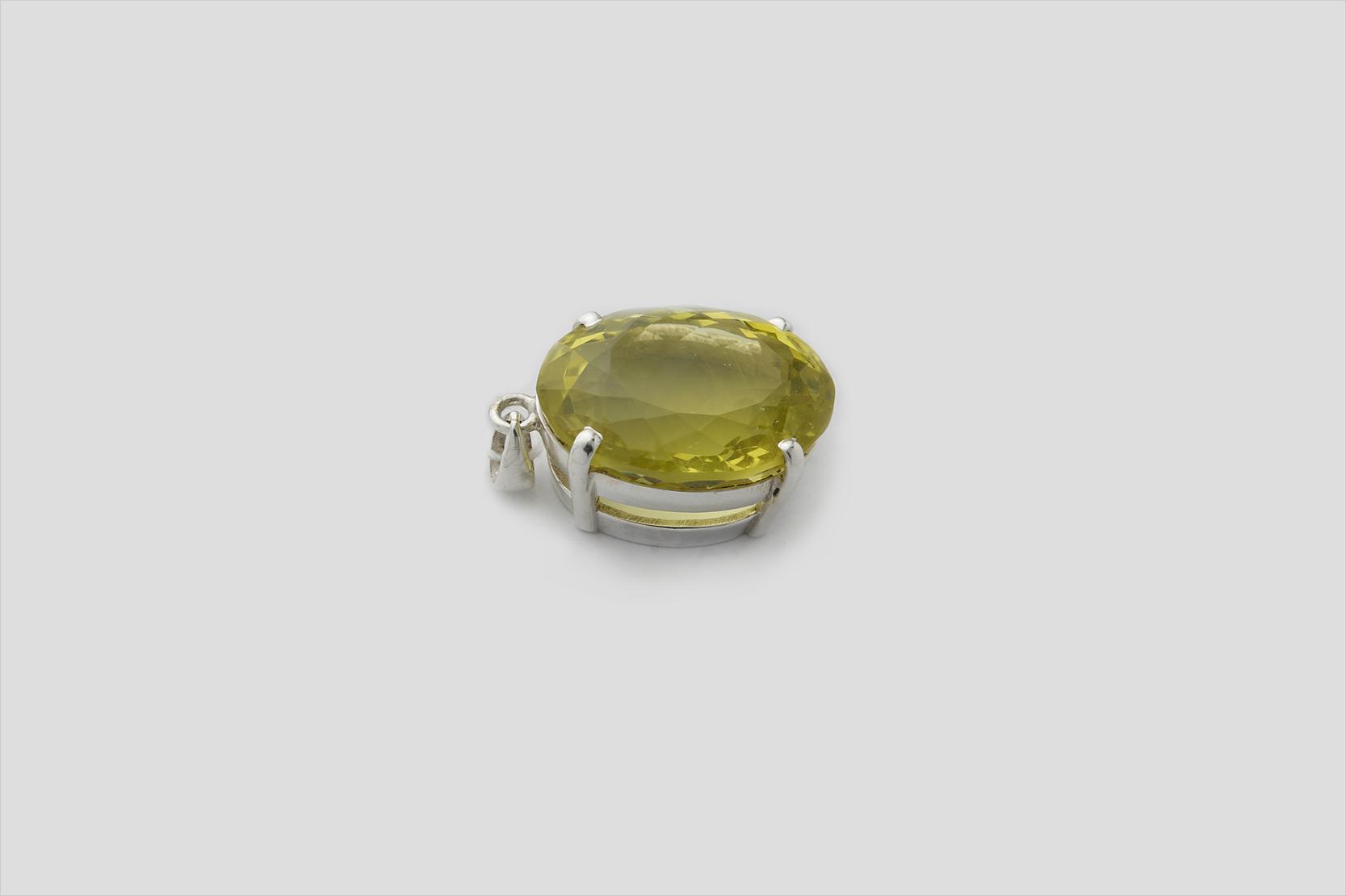 Lemon Topaz Silver Pendent (2)