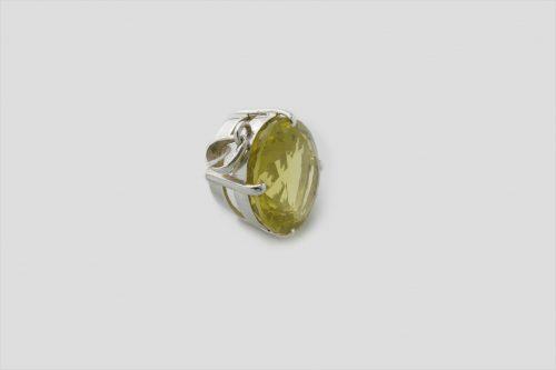Lemon Topaz Silver Pendent (3)