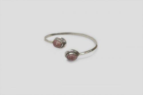 Rodochrosite Silver Bracelet