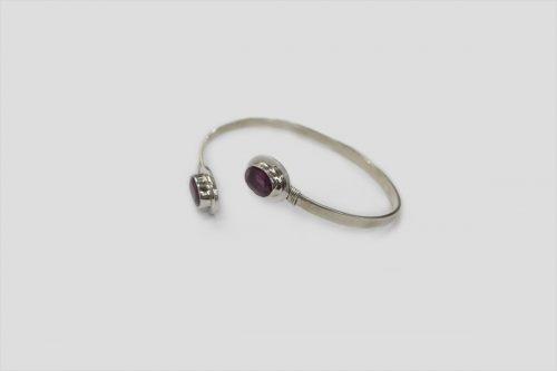 Ruby Silver Bracelet 2