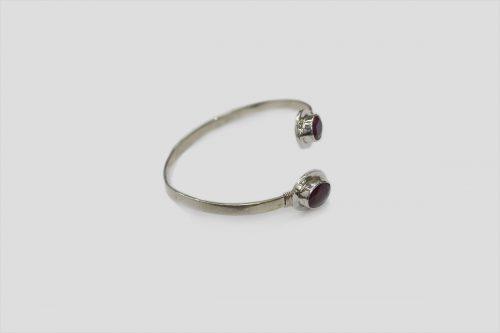 Ruby Silver Bracelet 3
