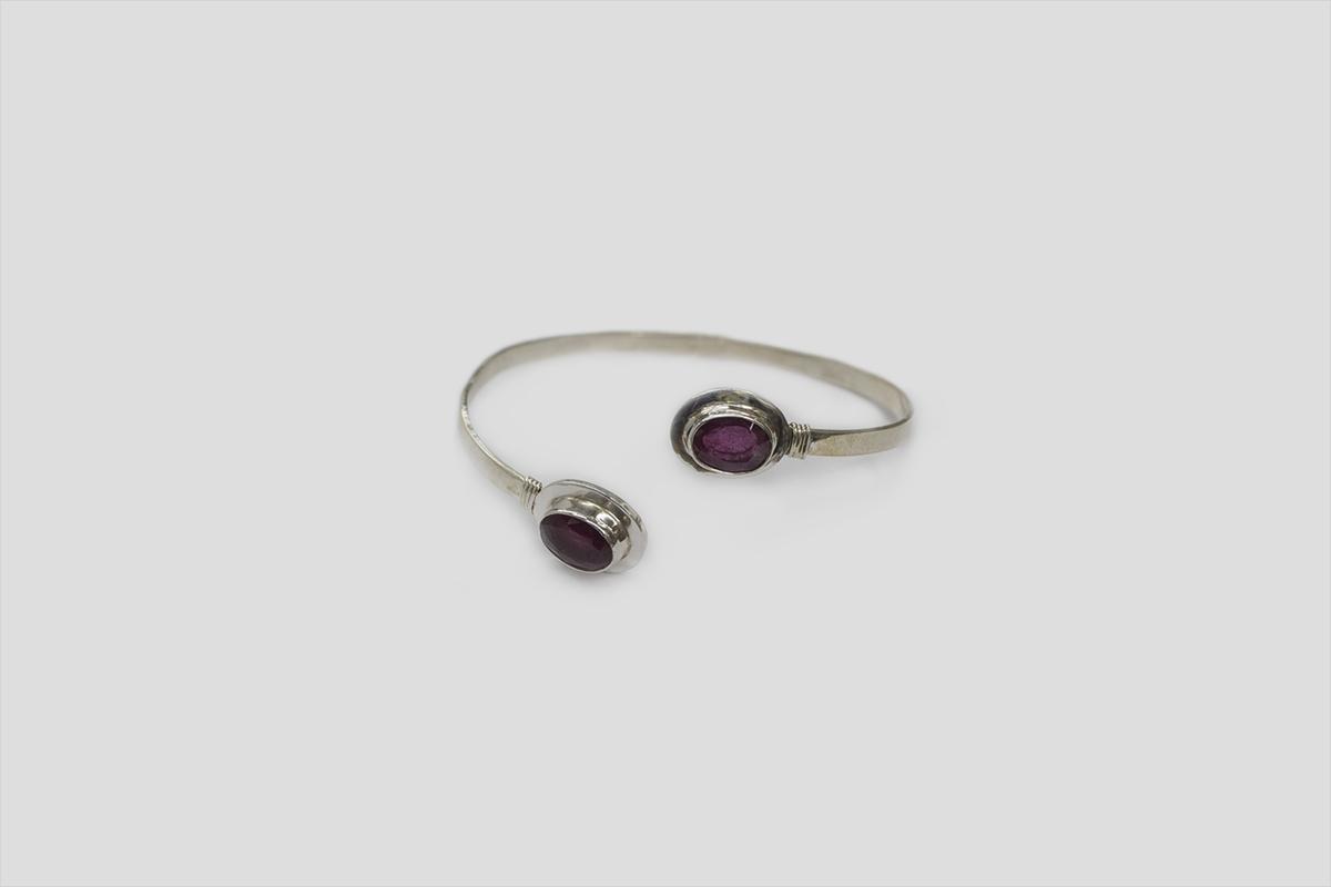 Ruby Silver Bracelet